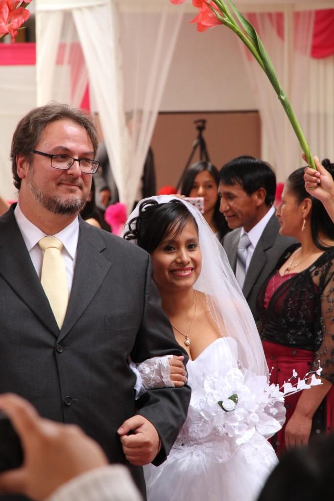 Der Einzug der Braut mit dem Padrino