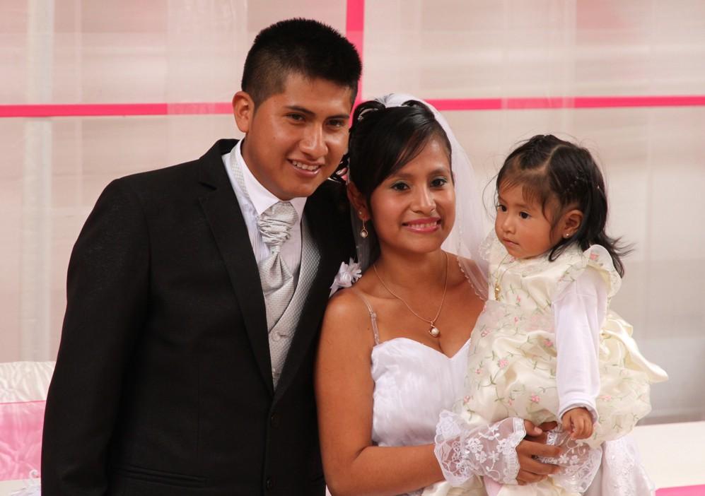 Das Paar mit ihrer Tochter Briana